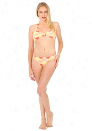 Marc By Mwrc Jacobs Coral Two Piece Swimsuit Wsw-00141079l-cor-l