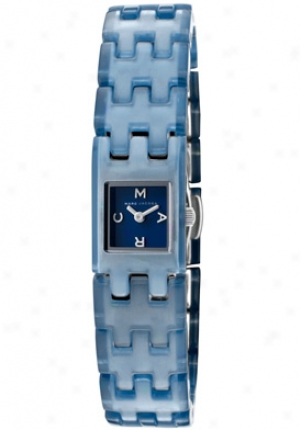 Marc By Marc Jacobs Women's Blue Dial Stainless Steel & Plastic Mbm4503