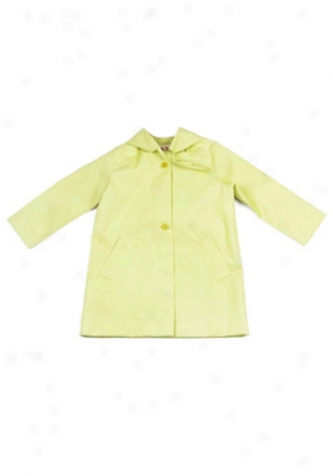Marni Girls Lime With Detachable Hoodie Coat Co-spmb511btc-li6