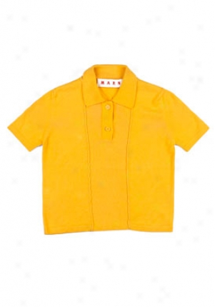 Marni Toddler, Little Boy And Boys Jupiter Yellow Short Sleeve Polo Wtp-pozdd18afc300-ju10