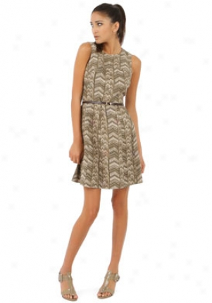 Michael Michael Kors Green Printed Dress Dr-qu18a68ii5-sg-12