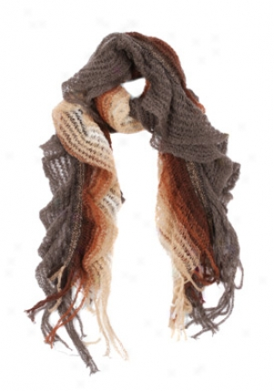 Missoni Brown Knitted Scarf Sc-sa57psd3311-4-car