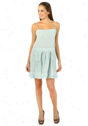 Miu Mij Aqua Silk Dress Dr-mf080trg-cl-44