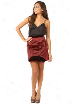 Miu Miu Bordeaux Silk Skirt W6t-mg231li5-bordeaux-44