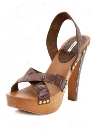 Miu Miu Brown Leather Platform Sandals 5z67521u5-moro-39