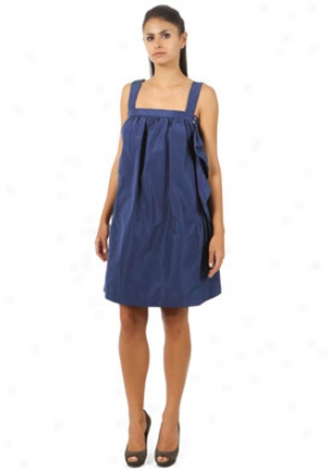 Miu Miu Indiggo Sleeveless Puffy Dress Dr-mf308078-blue-46