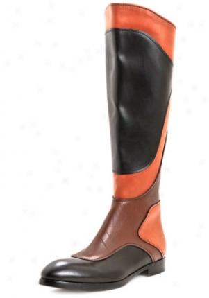 Miu Miu Multicolor High Leather Boots 5w6485xurnero40.5