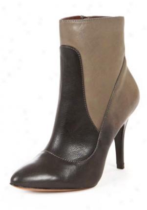 Modern Vintage Black & Grey Grace Loretta Leather Boots 125011-grey-7.5