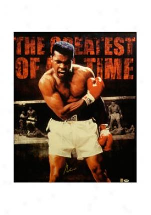 Muhammad Ali Muhammad Ali Autographed Painting Liston001gc