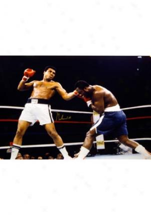 Muhammad Ali Muhammad Ali Vs. Joe Frazier Autographed Picture Frazier1p30x40