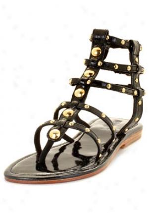 Mystique Black Studded Glaiator Sandal 228003-blk-6