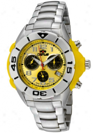 Nexus Men's Yellow Dial Stainless Steel Nexd7267-06c