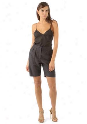 Nina Ricci Black Pleated Shorts Wbt-c08pp235co-blk-44