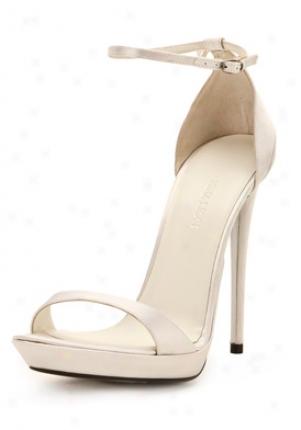 Nina Ricci Light Grey Satin Eminent Put a ~ on Sandals Sh066sat02-sg-40