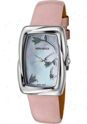 Nina Ricci Women's Pink Mop Dial Pink Varnished Leather N032.12.76.86