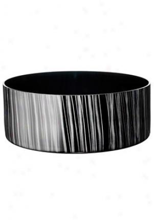 Orrefors Slowfox Black Low Crystal Bowi 6301013