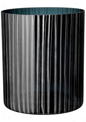Orrefors Slowfox Garss Black Crystal Vase 6301024