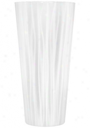 Orrefors Straw White Crystal Medium Vase 6590921
