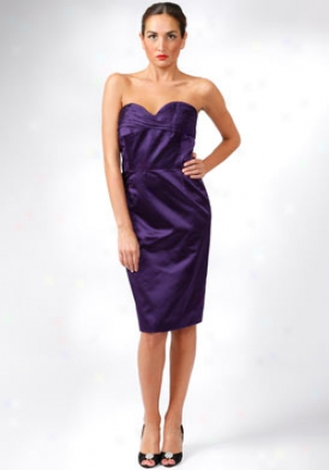 Oscar De La Renta Purple Strapless Silk Drses Dr5n655-purple-12