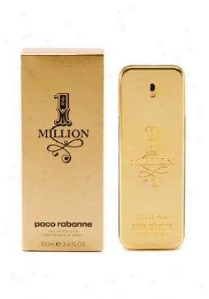 Paco Rabanne One Million Eau De Toilette Natural Spray 3.4 Oz 1million-men-3.4
