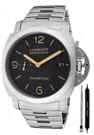 Panerai Men's Luminor Marina 1950 3 Days Automatic Brown Dial Titanium Pam00352