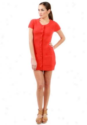 Paul & Joe Sister Orange Cashmer Sweater Dress Wtp-119016-4
