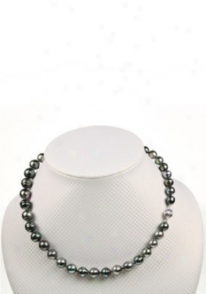 Pearls Tahitian Black Baroque Shaped Pearl Necklace Tbq-810