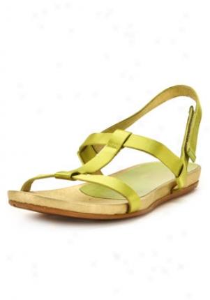 Pedro Garcia Green Satin Flat Sandals Tais-citronelle-41