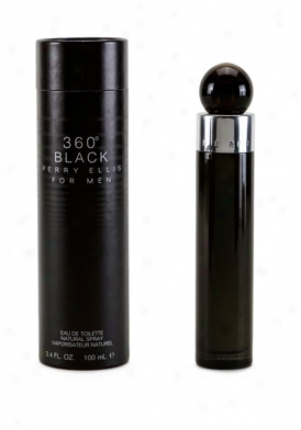 Perry Ellis 360 Black Eau De Toilette Spray 3.4 Oz 360black-men-3.4