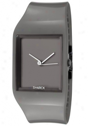 Philippe Starck Womrn's Grey Dial Grey Silicone Ph5034