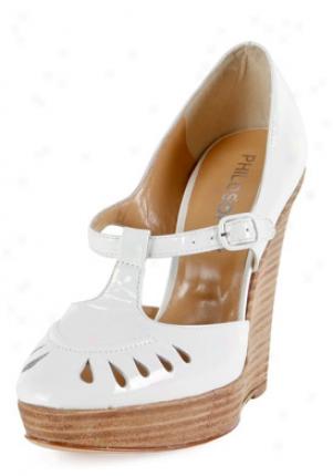 Philosophy Di Alberta Ferretti White Patent Leather Wedges A60158006w-40