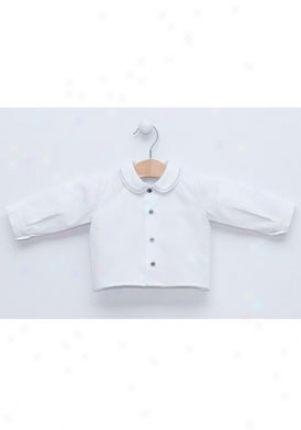 Pili Carrera Baby Boy White And Grey Long Sleeve Shirt Ctp-0224200-129-3m