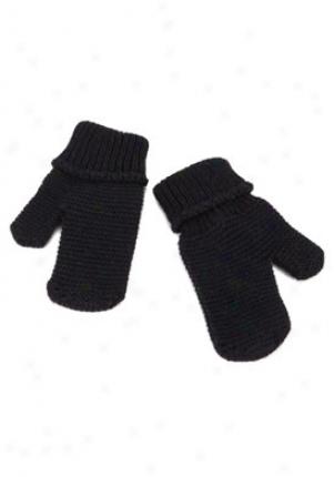 Pili Carera Baby Giirls & Boys Navy Blue Knitted Gloves Cgl-0257100-006-s