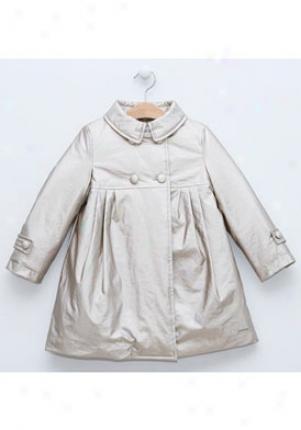 Pili Carrera Girls Metallic Bronze Raincoat Cco-0278300-034-14