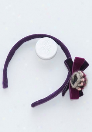 Pili Carrera Purple Corduroy Headband Cha-0296002-066-os