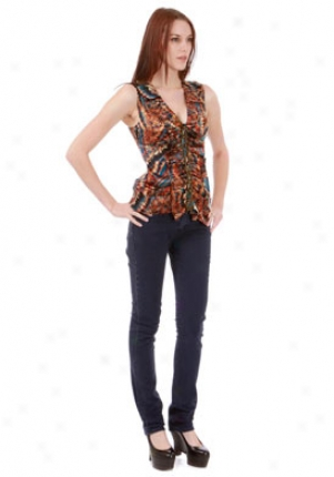Plent6 By Tracy Reese Draped Flounce Blouse Wtp-10008001p