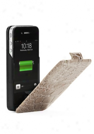 Powerpatch Crocodile Patterned Power Pack For Iphone 4/4s Batteru Case Pp12576
