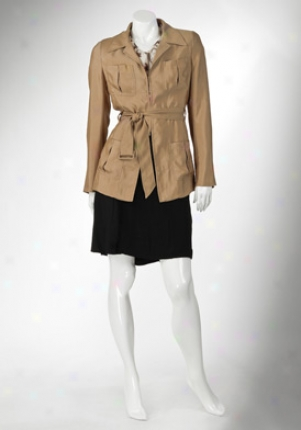 Prada Llght Brown Long Sleeve Jacket Ja-p5448vat-no -46