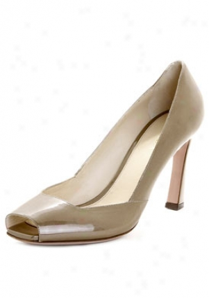 Prada Tan Patent Leatber Peep Toe Pump 1908ae39-blond-40.5