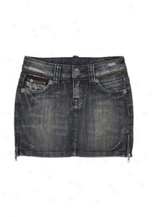 Pratt's Guzzi Mini Denim Skirt Wbt-18800124