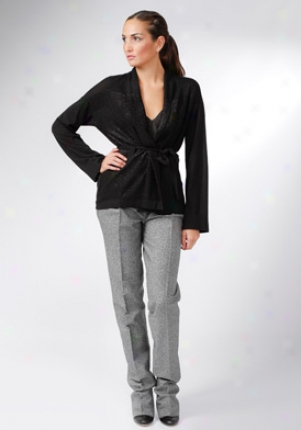 Pringle Of Scotland Black Long Sleeve Cardigan Wtp-pwd039-blk-l