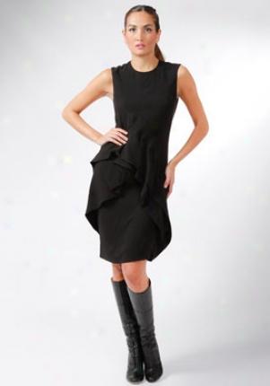 Pringle Of Scotland Black Sleeveless Dress Dr-pwh363-blk-10