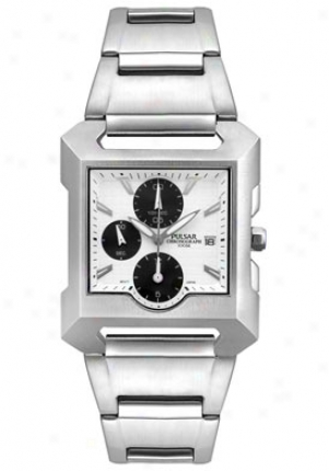 Pulsar Men's Chronograph Stainless Hardness Pf8129x1