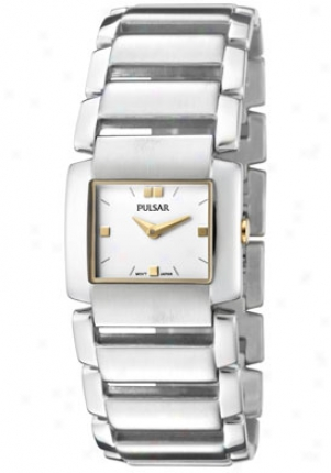 Pulsar Women's White Dial Stainless Steel Pta429x1