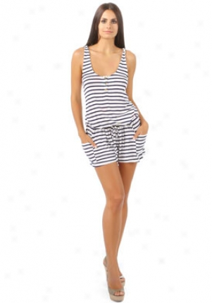 Rachel Pally Navy & White Striped Romper On-su10983p0-navy-l