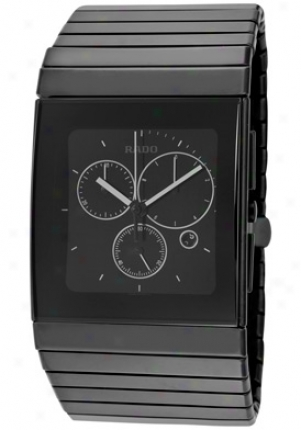 Rado Men's Ceramica Chronograph Mourning Dial Matte Black High-tech Ceramic R21715151