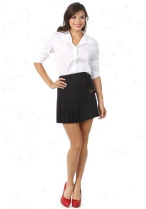 Rag & Bone Black Wool Kilt Skirt Wbt-w09in1b06-blk-27
