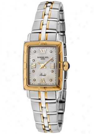 Raymond Wel Women's Parsifal Diamond 18k Gold And Stainless Steel 9740-stg-00995