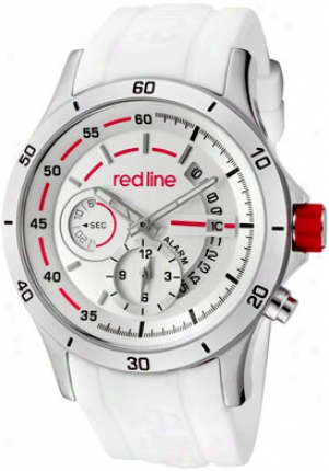 Red Line Men's Tech Alarm Silver Dial White Silicone 50021-02-wht