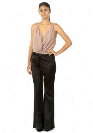 Roberto Cavalli Black Wide Leg Pants Wbt-lpt242rk010-b46